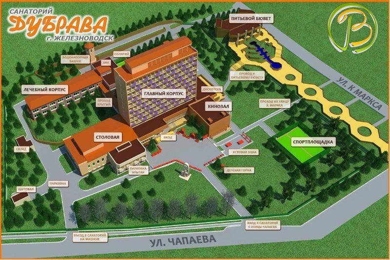 Схема территории санатория