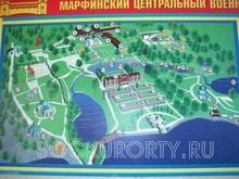 Карта территории Марфинского санатория